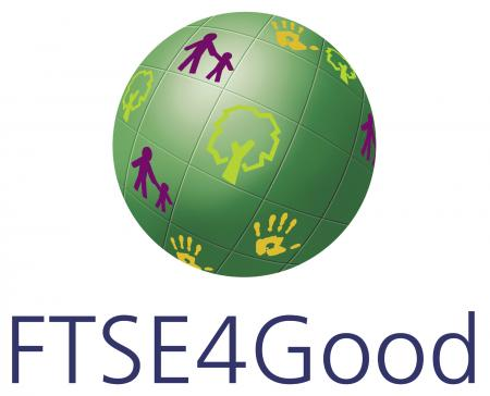 The logo mark of the FTSE4Good Index