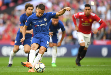 Chelsea FC's Eden Hazard delivered the winning goal on a penalty kick