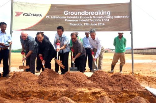 Groundbreaking ceremony on Batam Island on June 19