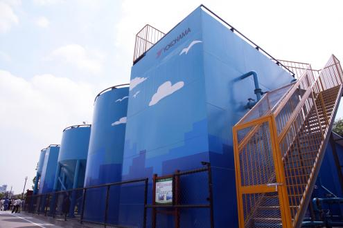 Sewage treatment plant designed and decorated by Hangzhou Yokohama Tire employees.