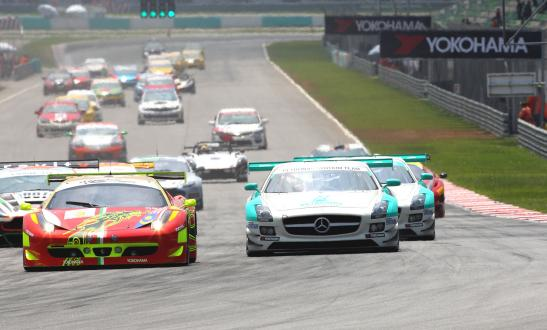 A scene of 2012 when FIA-GT3 machines started to entry the race.