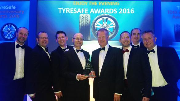 YHPT members proudly accepting their TyreSafe Award at the awards ceremony in July 2016