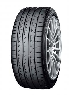 """ADVAN Sport V105"" Tire shown in photo differs in size from those installed on the WRX STI. (a wheel shown in the photo is not standard equipment)"