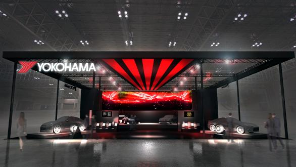 Image of the YOKOHAMA tire booth