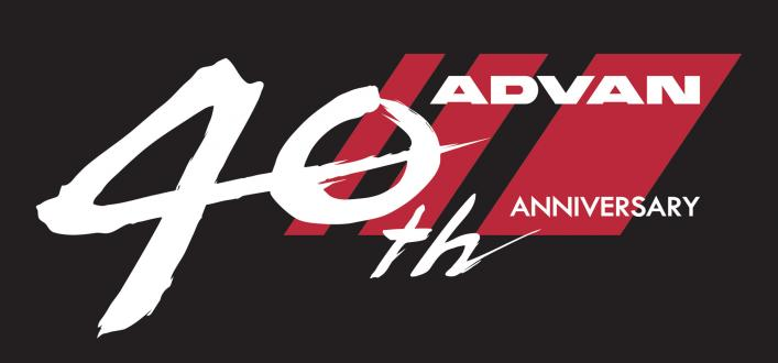 """ADVAN"" 40th anniversary logomark"