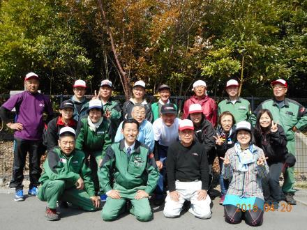 植樹会に参加したメンバー