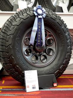 「Best New Tire Winner」を受賞した「GEOLANDAR X-AT」